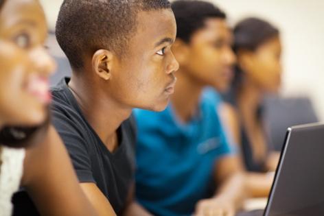 black boy in classroom