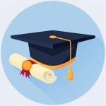 college graduating hat