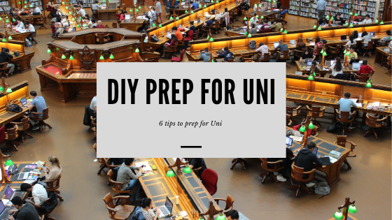 """<p style=""""font-size:40px;"""">6 THINGS TO DO TO PREPARE FOR UNIVERSITY</p>"""